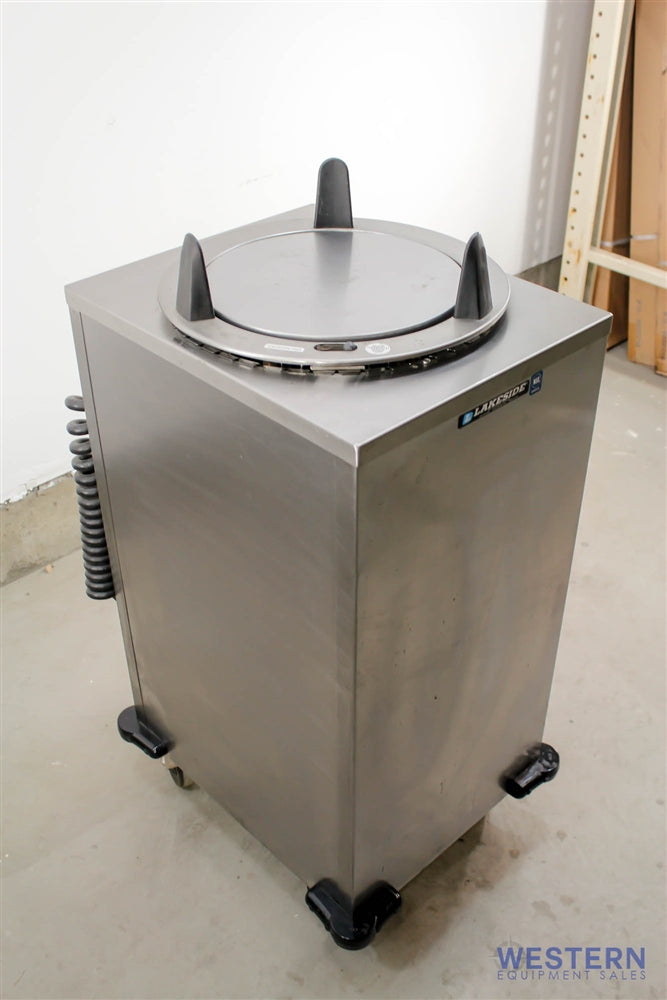 "Used Lakeside Mobile Heated Cabinet Dish Dispenser for 12"" Dish"