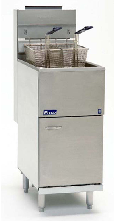 Pitco 40D Four Tube Fired Gas Fryer 45 lb.