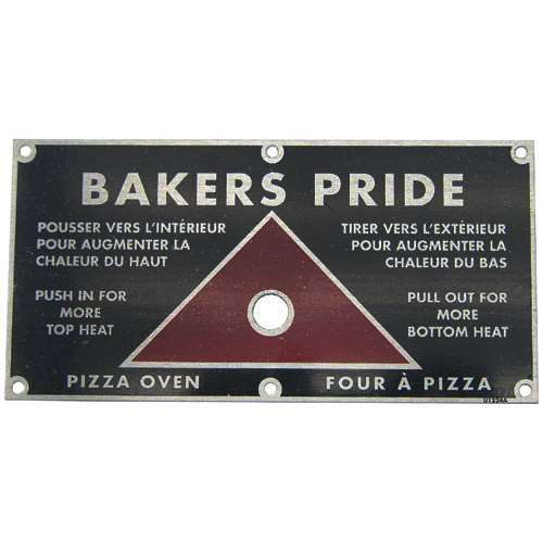 Plate For Bakers Pride U1224A