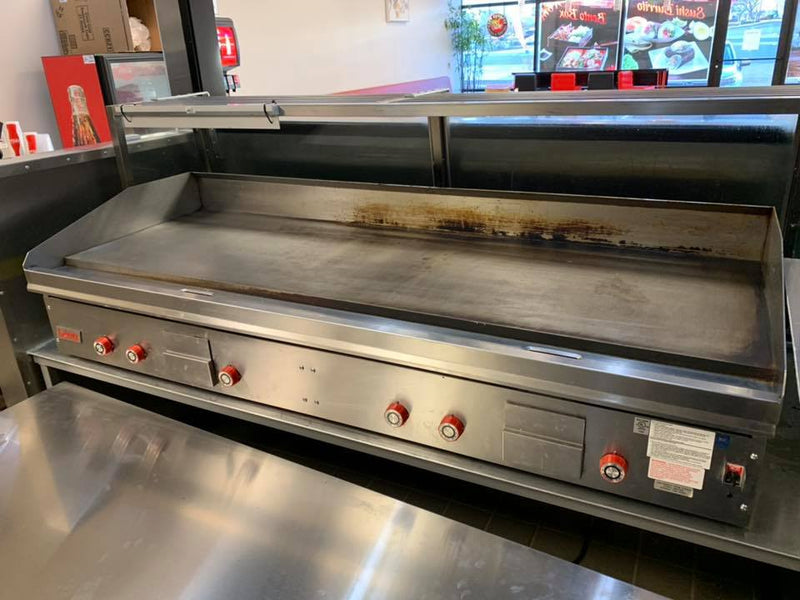 "Used Lang 72"" Griddle with Thermostatic Controls, Electronic Ignition - Lang 272T FREE SHIPPING TO LOWER 48!"