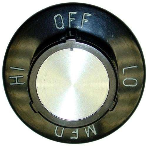 Knob 2-1/2 D, Off-Lo-Med-Hi For Star 2R-9305