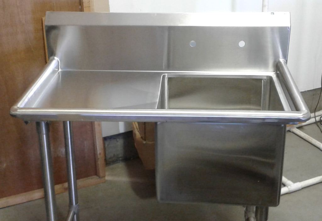 New John Boos One compartment sink w/ Left side drainboard
