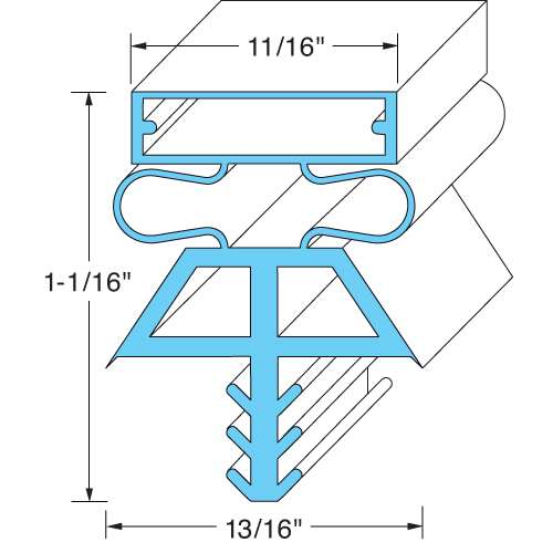 "Door Gasket 36 1/2"" x 77 1/2"" for Kolpac 22518-1075"