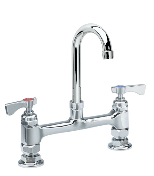 "15-802L - Royal Series 8"" Center Raised Deck Mount Faucet, 8-1/2"" Gooseneck Spout, Low Lead"