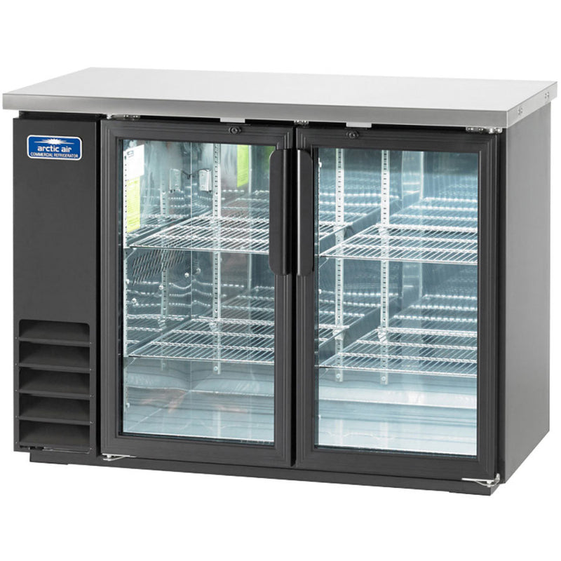 Arctic Air ABB48G Two Glass Door Back Bar Refrigerator FREE SHIPPING!