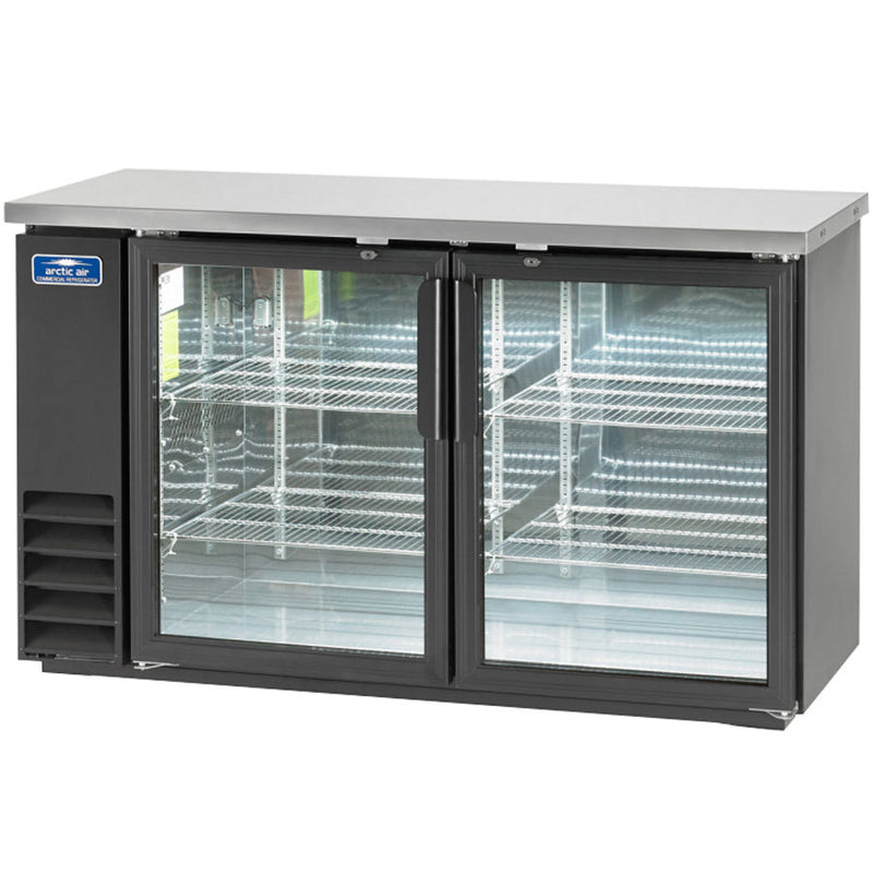Arctic Air ABB60G Two Glass Door Back Bar Refrigerator FREE SHIPPING!