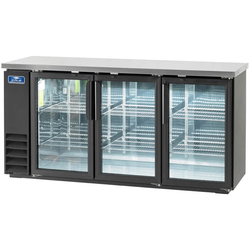 Arctic Air ABB72G Three Glass Door Back Bar Refrigerator FREE SHIPPING!