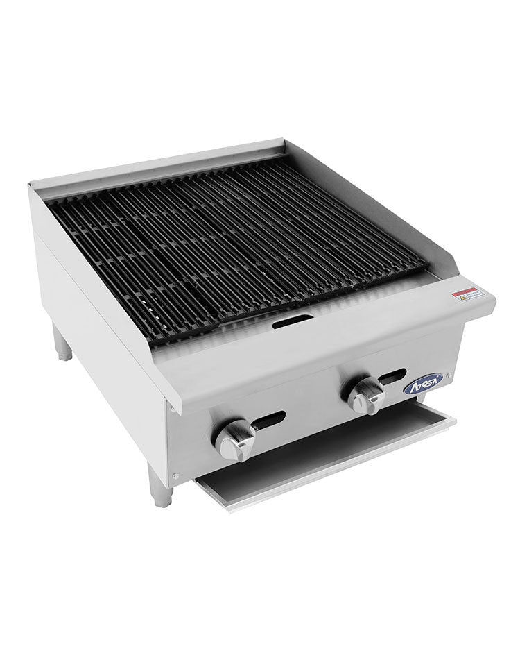 Atosa Heavy Duty ATCB-24  24″ Gas Char Rock Charbroiler FREE SHIPPING!