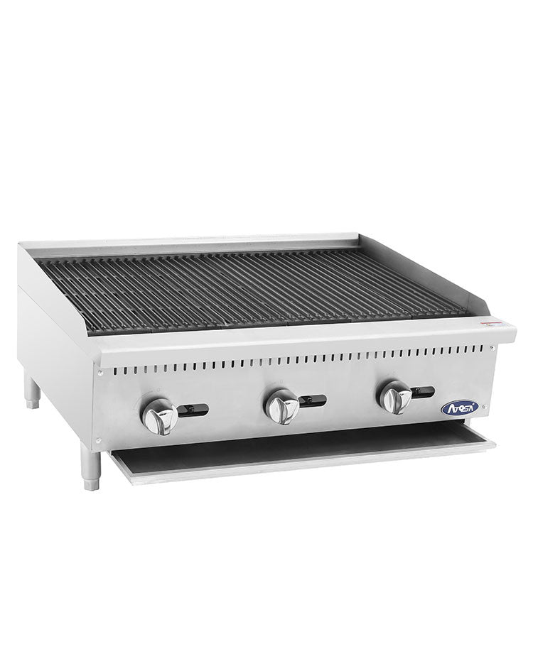 "Atosa Heavy Duty ATCB-36 36"" Gas Char Rock Charbroiler FREE SHIPPING!"
