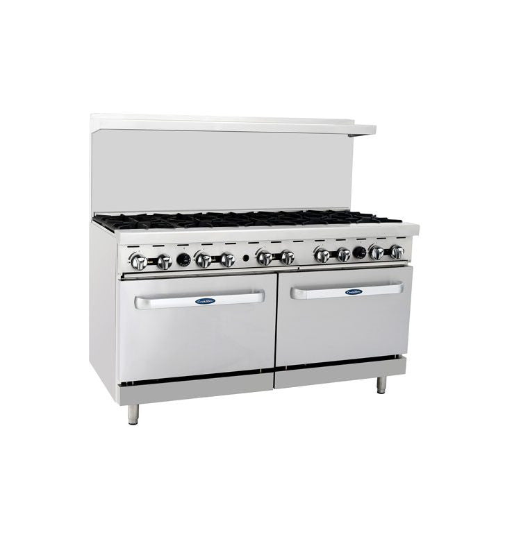 "Atosa Cookrite ATO-10B 60"" Gas Range 10 Burners with 2 Ovens"