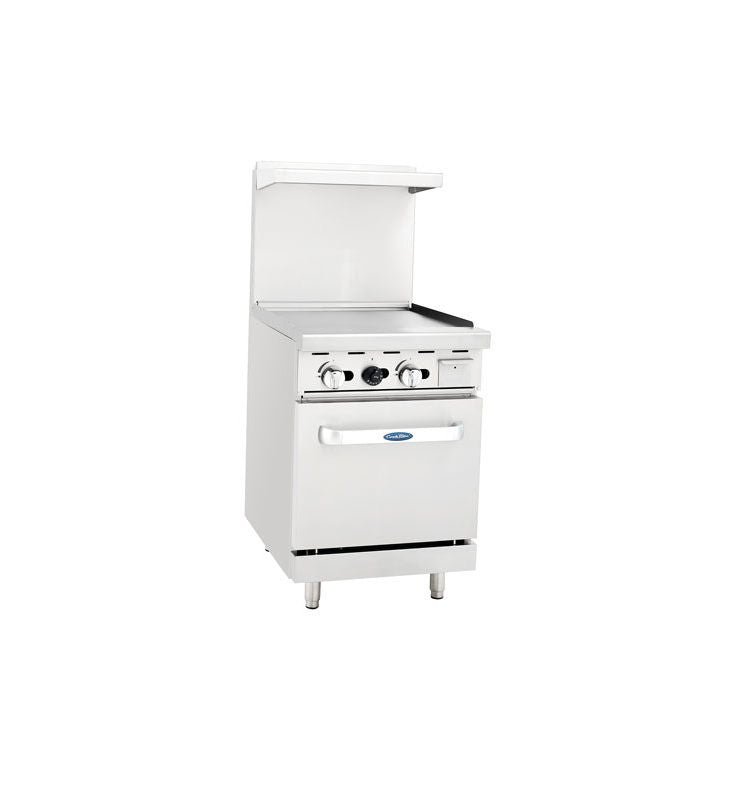 "Atosa Cookrite ATO-24G 24"" Gas Range Griddle with Oven"