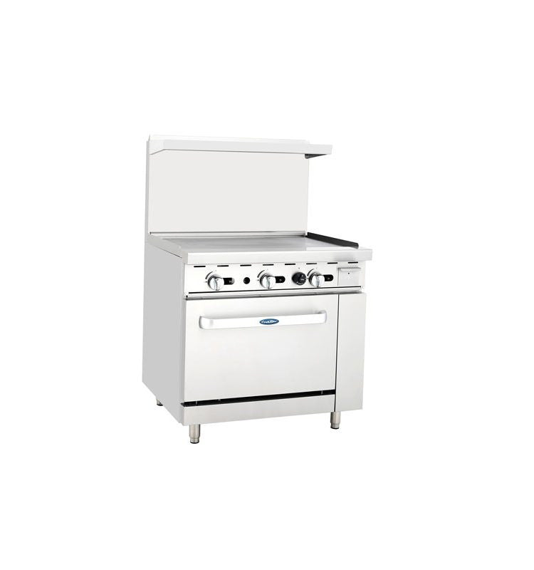 "Atosa Cookrite ATO-36G 36"" Gas Range 36"" Griddle with Oven"
