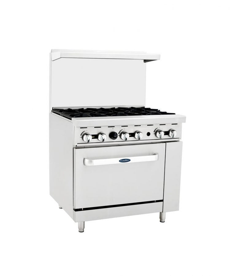 "Atosa Cookrite ATO-6B 36"" Gas Range 6 Burner with Oven"
