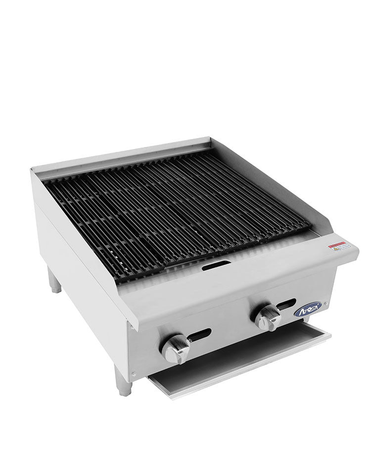 "Atosa Heavy Duty ATRC-24 Gas Radiant Charbroiler 24"" FREE SHIPPING!"