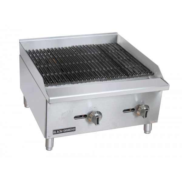 "Adcraft BDECTC-24/NG Standard 24"" Charbroiler FREE SHIPPING!"