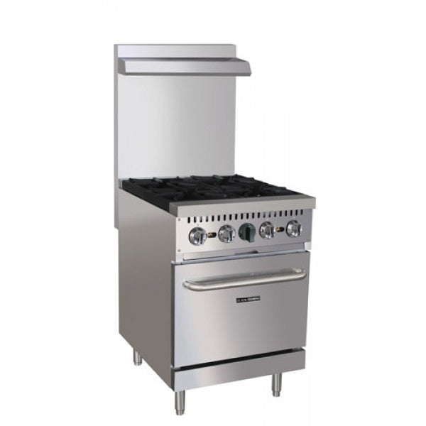 "Adcraft BDGR-24/NG 24"" Range 4 Burner with Oven FREE SHIPPING!"