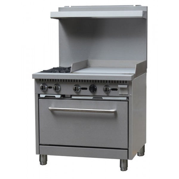 "Adcraft BDGR-3624G/NG 36"" Range 2 Burner 24"" Griddle FREE SHIPPING!"