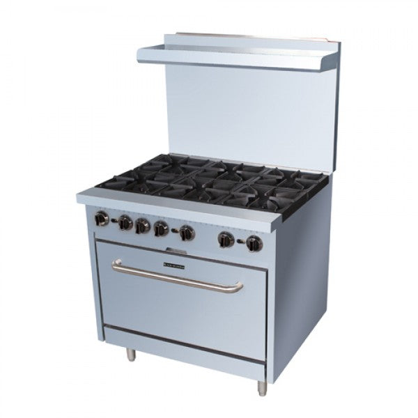 "Adcraft BDGR-36/NG 36"" Range 6 Burner with Oven FREE SHIPPING!"