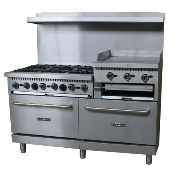 "Adcraft 60"" Range 6 Burner 24"" Griddle/Broiler FREE SHIPPING!"