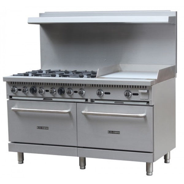 "Adcraft BDGR-6024G/NG 60"" Range 6 Burner 24"" Griddle FREE SHIPPING!"
