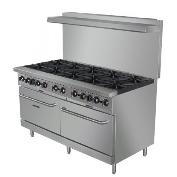 "Adcraft BDGR-60/NG 60"" Range 10 Burner with 2 Ovens FREE SHIPPING"
