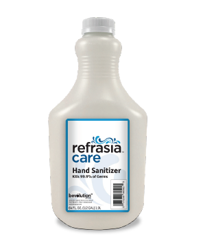 NEW AND IMPROVED! Refrasia Care 64oz Bottle of Gel Hand Sanitizer FDA Approved now with clean linen fragrance!