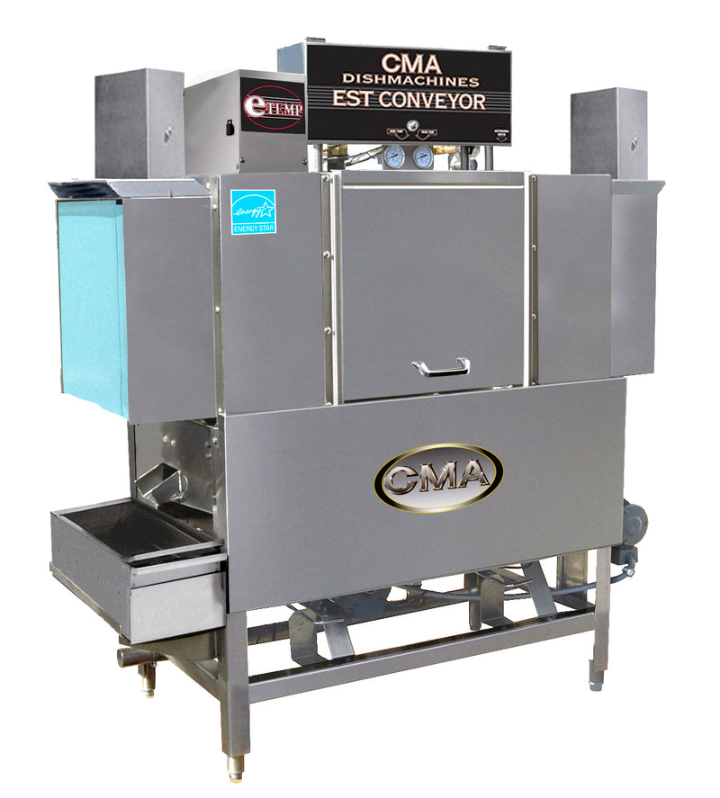 CMA EST-44 High/Low Temp Conveyor Dishwasher w/Booster FREE SHIPPING!