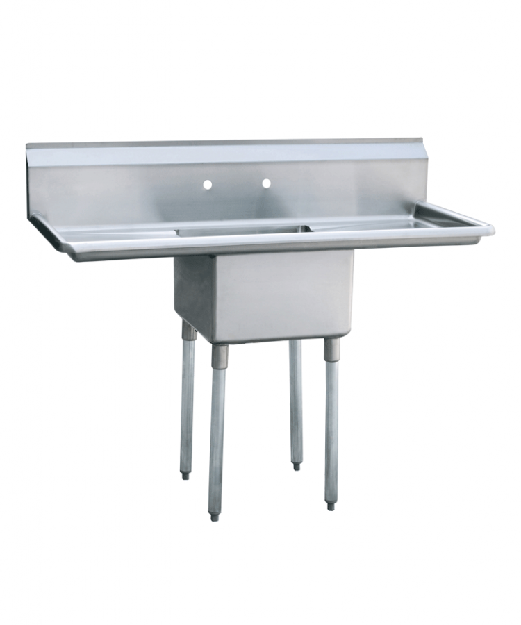 Atosa MRSA-1-D One Compartment SS Sink 2 Drainboards FREE SHIPPING!