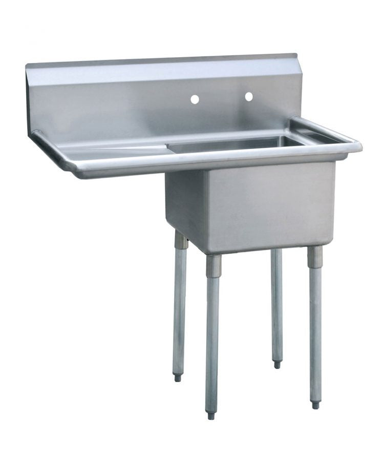 Atosa MRSA-1-L One Compartment SS Sink Left Drainboard FREE SHIPPING!