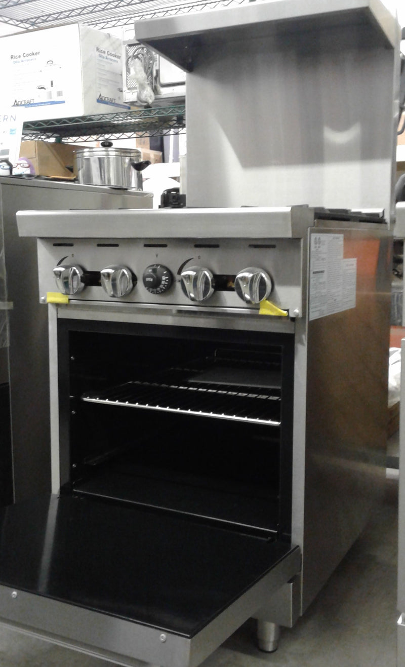 "Atosa Cookrite ATO-4B 24"" Gas Range 4 Burners with Oven"