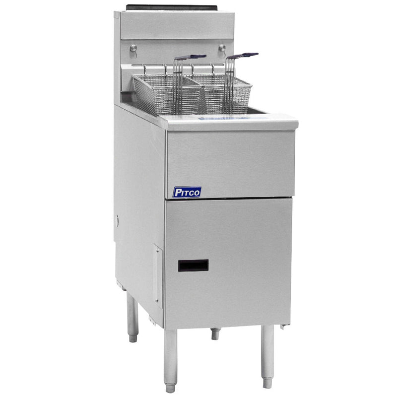Pitco SG-14S 50 lb. 4 Tube Gas Fryer