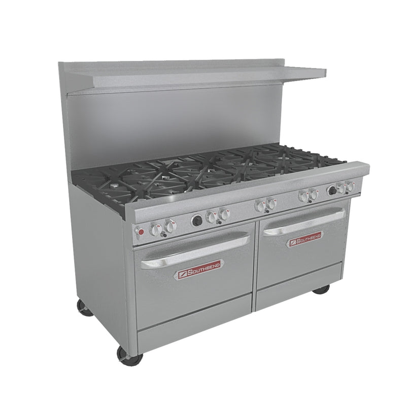 "Southbend 60"" 10 - Burner Gas Range with 2 Standard Ovens"