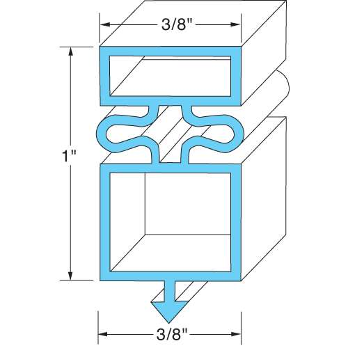 "Door Gasket 25 3/4""X54 1/8"" For True 810803"