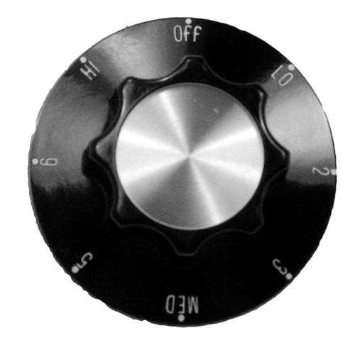 Knob 2-1/4 D, Off-Lo-2-6-Hi For Star 2R-A710E8761