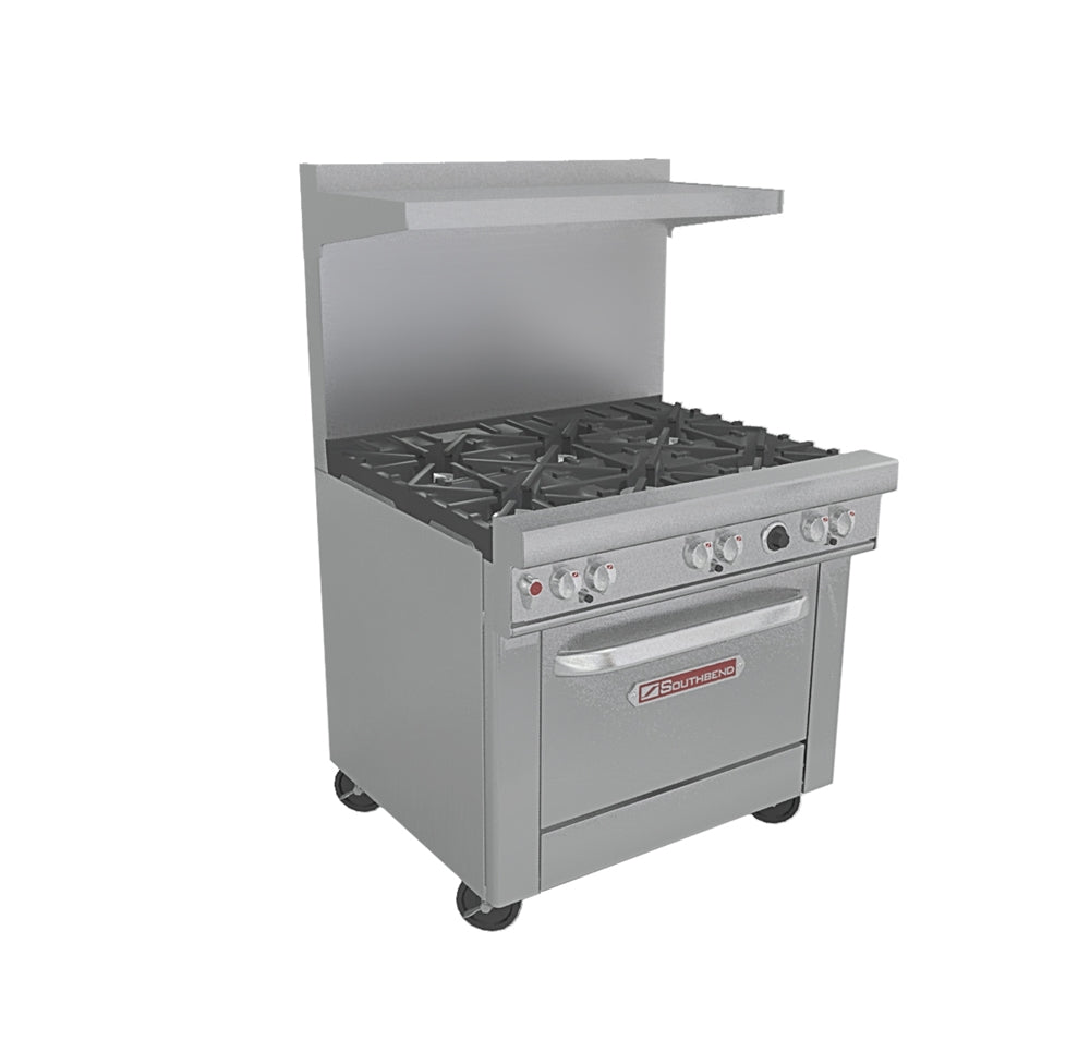 "Southbend Ultimate Series - 36"" W Commercial Range 6 burners and 1 oven - 4361D"