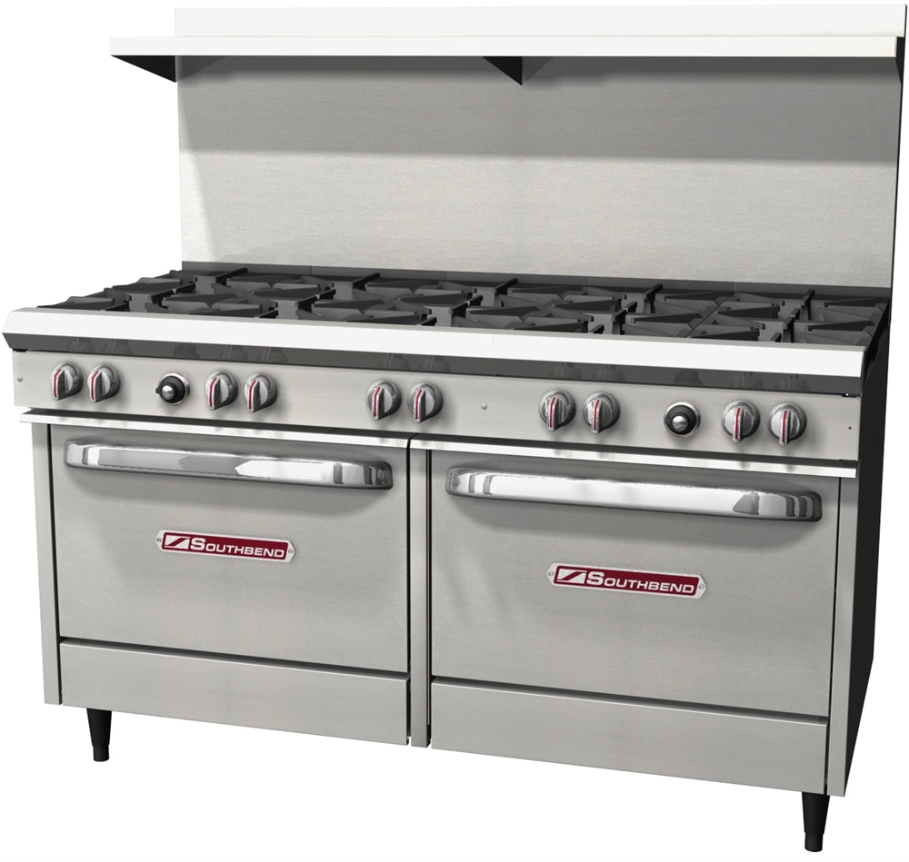 "Southbend S-Series 60"" W Commercial Range 10 Burners and 2 Ovens - S60DD"