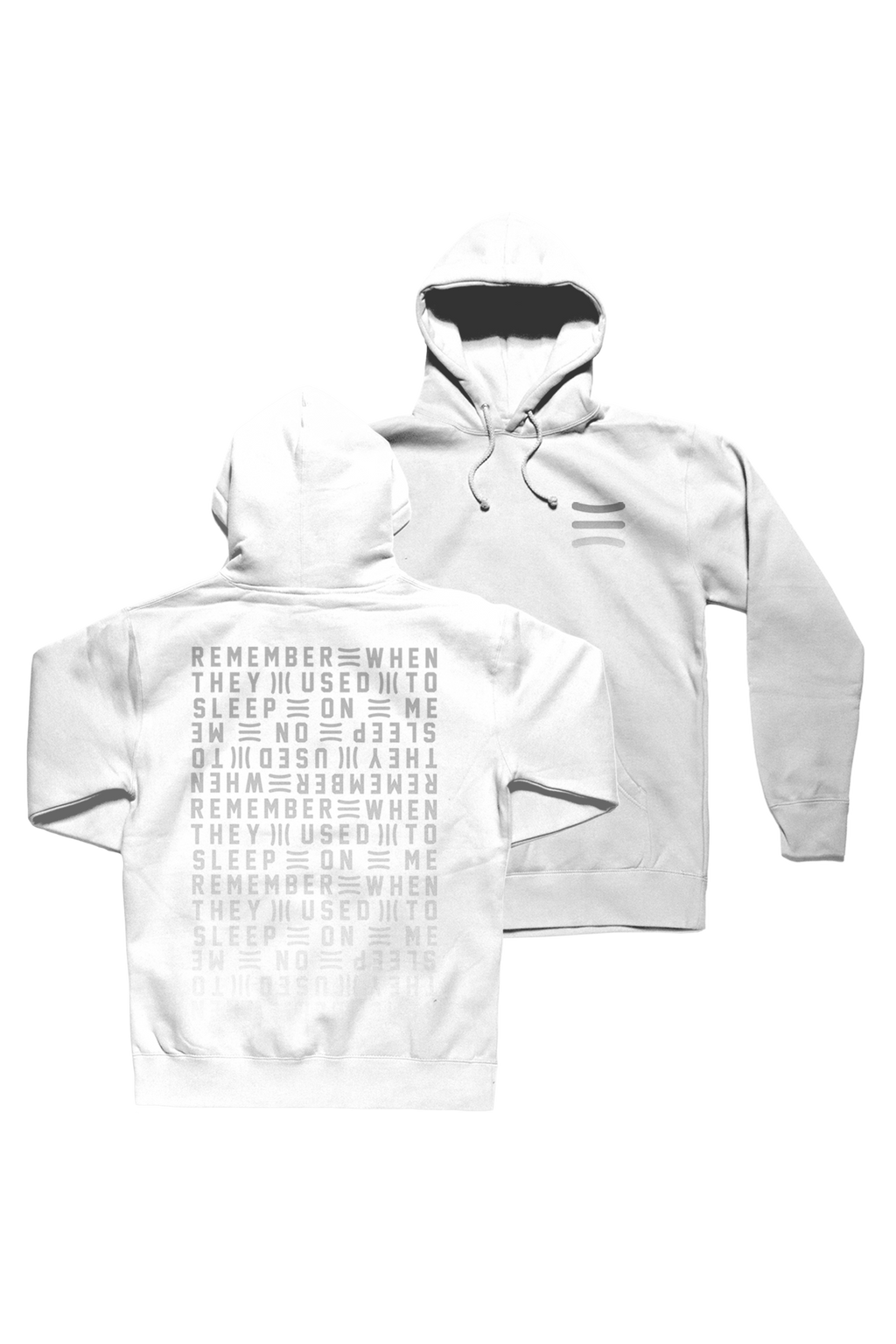 Remember White Hoodie