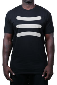 HL Stripe Tee Black