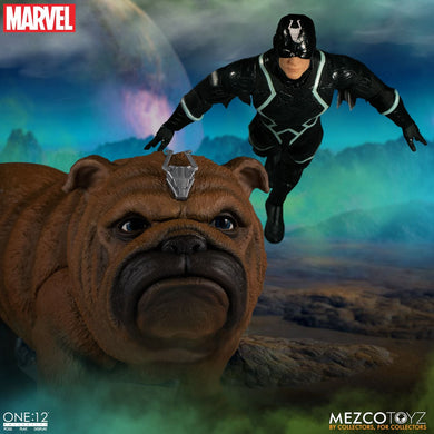 PreOrder MEZCO ONE 12 Black Bolt & Lockjaw Set