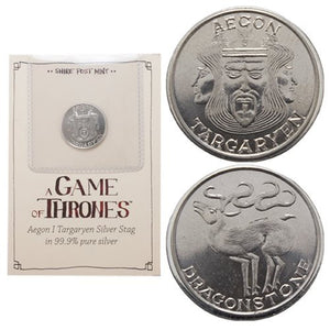 Game of Thrones Aegon Targaryen Silver Stag