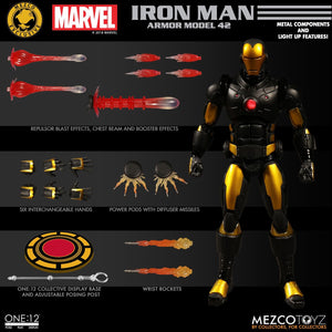 Mezco One:12 Collective Figure Marvel Iron Man: Armor Model 42 Edition LACC Exclusive