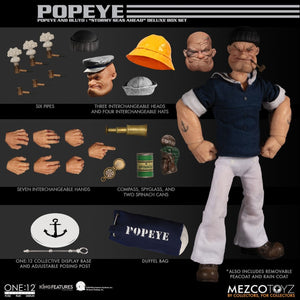 PreOrder MEZCO ONE 12 Popeye & Bluto: Stormy Seas Ahead Deluxe Box Set