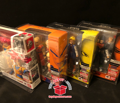 Lot of 5x SOFT PLASTIC CASE for Dragon Ball Z, STANDARD BOX Bandai S.H.Figuarts Action Figure