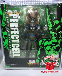 T8 ACRYLIC CASE for Dragon Ball Z, SDCC Exclusive PERFECT CELL Bandai S.H.Figuarts Action Figure