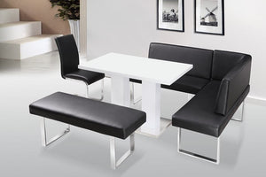 Black And White Dining Table Set