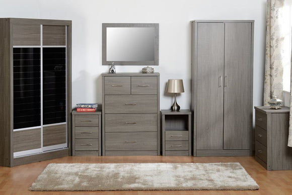 Black Grain Wood Bedroom Furniture