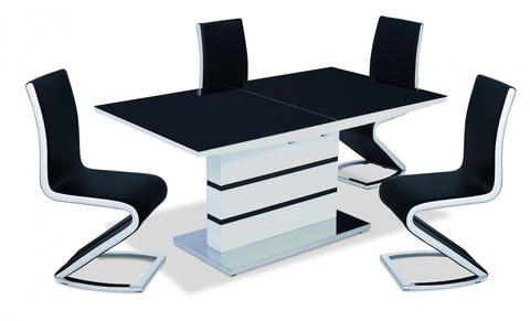 High Gloss Dining Table With 4 Chairs