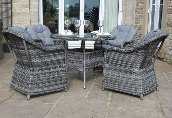 Luxury Rattan 4 Seat Garden Furniture Set