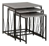 Concrete & Black Living Room/Dining Room Furniture