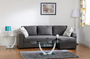 Dark Grey Corner Sofa Bed